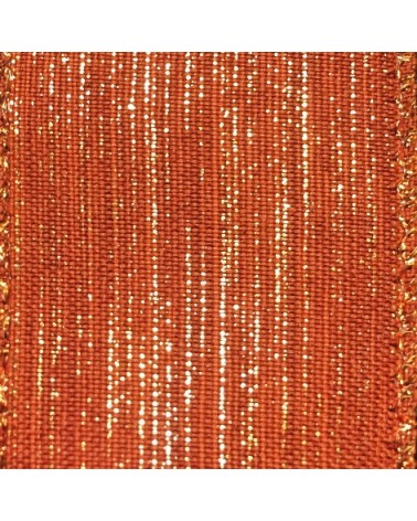 Fita Tecido Aramada Vermelho c/Nuances Vermelhas - Laranja - 38mmx10y - FT5221