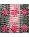 Fita Tecido Aramada Losangos Rosa - Rosa - 15mmx20mts - FT5262
