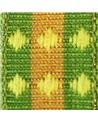 Fita Tecido Aramada Losangos Amarelo - Amarelo - 15mmx20mts - FT5263