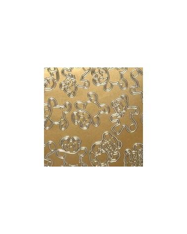 Papel King Foil Xadrez Bronze - Bronze - 50x70cm - PP2044