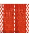Fita Tecido c/Tirante Laranja e Tracejado Branco - Laranja - 25mmx15mts - FT5269