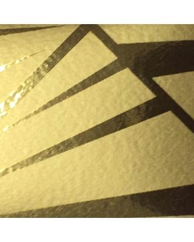 """Fita Metalizada """"Mirror"""" Dourado com Traços 31mm 100mts - Dourado - 31mmx100mts - FT2447"""