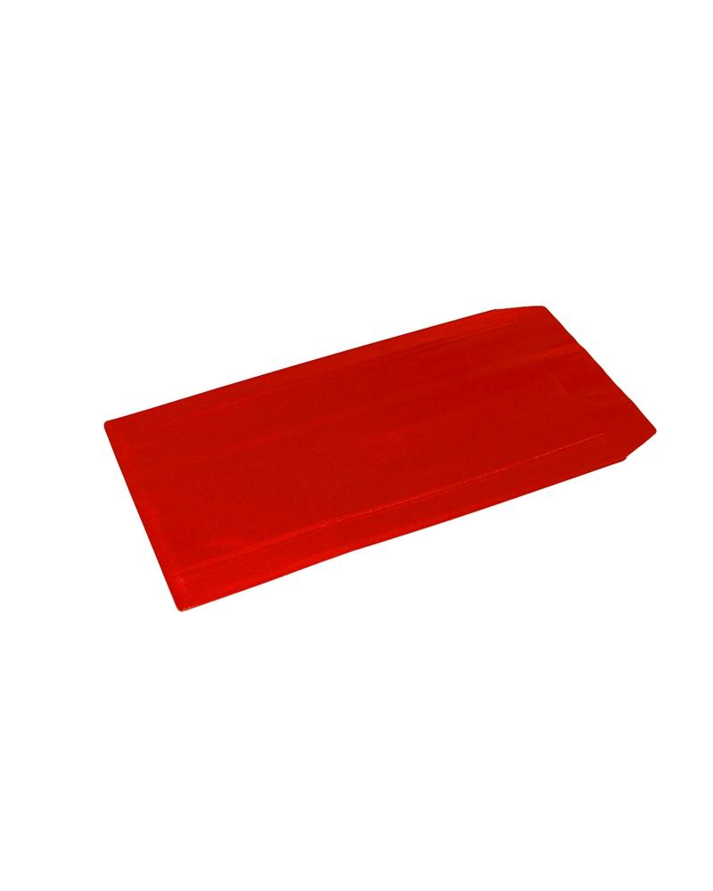 Saco com Pala Autocolante Vermelho Gofrado - Vermelho - 24x43+6cm - SC3400