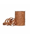 Rolo Fita Metalizada Cortiça Tons Dourados 10mm - Dourado - 10mmx250mts - FT5277