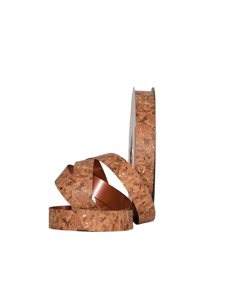 Rolo Fita Metalizada Cortiça Tons Dourados 19mm - Dourado - 19mmx100mts - FT5279