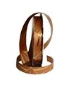 """Rolo Fita Met.""""Mirror"""" Bronze e Dour. com Traços 19mm 100mts - Bronze - 19mmx100mts - FT2452"""