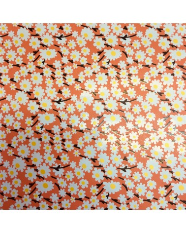 Papel Reflex Rosa c/Flores - Rosa - 70x100cm - PP2828