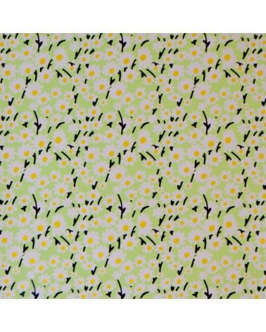 Papel Reflex Verde c/Flores - Verde - 70x100cm - PP2829