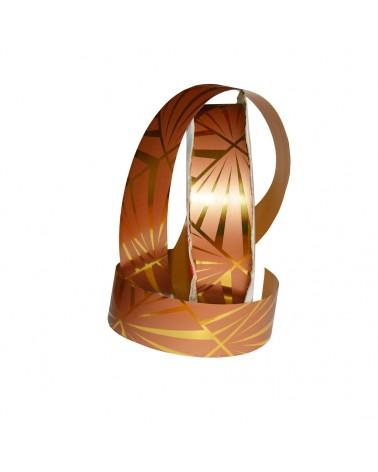"""Rolo Fita Met.""""Mirror"""" Bronze e Dour. com Traços 31mm 100mts - Bronze - 31mmx100mts - FT2453"""