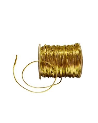 Rolo Cordão Dourado (1.8MMX100MTS) - Dourado - 1.8mmx100mts - FT3109