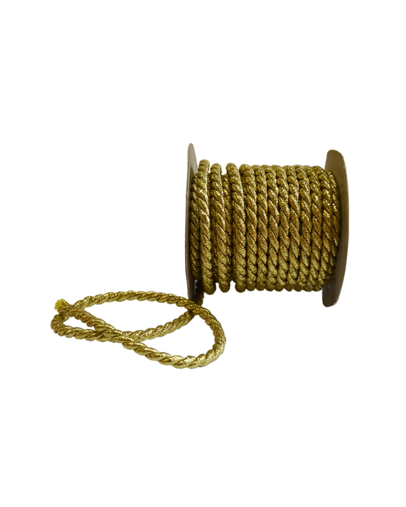 Rolo Cordão Dourado (5MMX10MTS) - Dourado - 5mmx10mts - FT3119