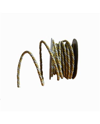 Rolo Cordão Dourado/Prateado (4MMX10MTS) - Dourado/Prateado - 4mmx10mts - FT3121