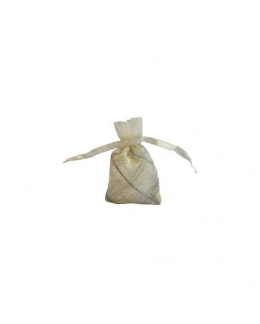 Saco Organza Xadrez Branco - Branco - 6X9CM - EO0239