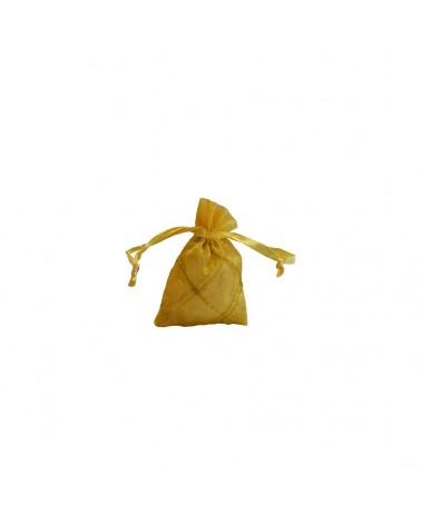 Saco Organza Xadrez Dourado - Dourado - 6X9cm - EO0240