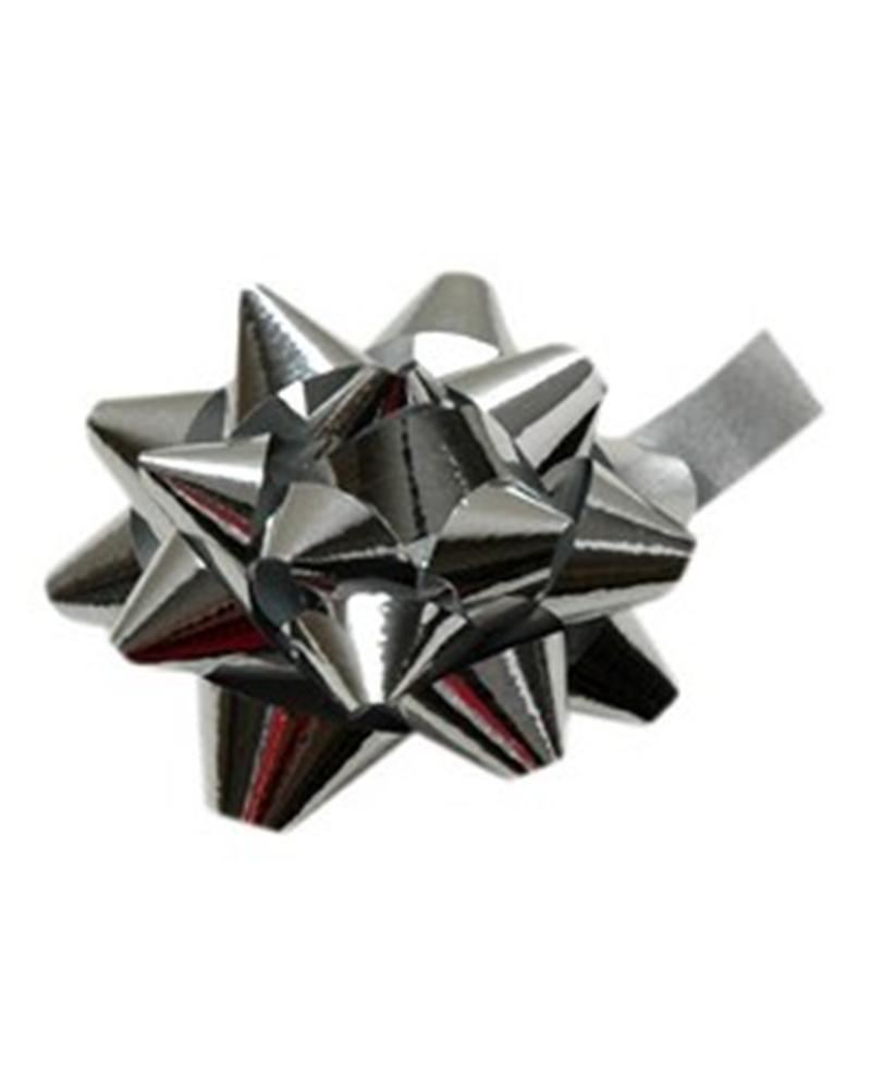 Laço Autocolante Metalizado Prateado - Prateado - 7mm - LÇ1157
