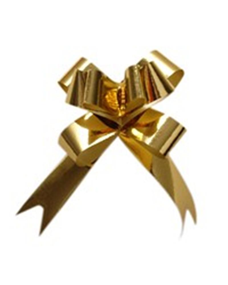 Laço de Puxar Metalizado Dourado 13mm (c/100) - Dourado - 13mm - LÇ1189
