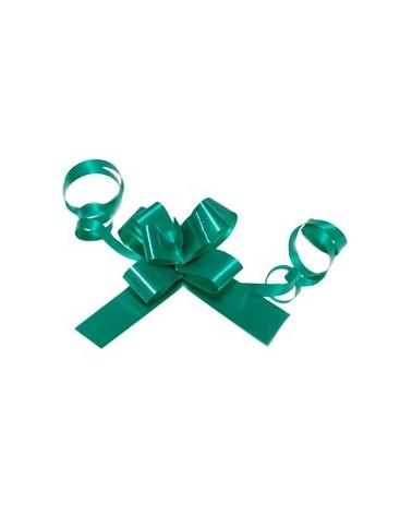 Laço de Puxar de Seda Verde Escuro 13mm (c/100) - Verde - 13mm - LÇ1349