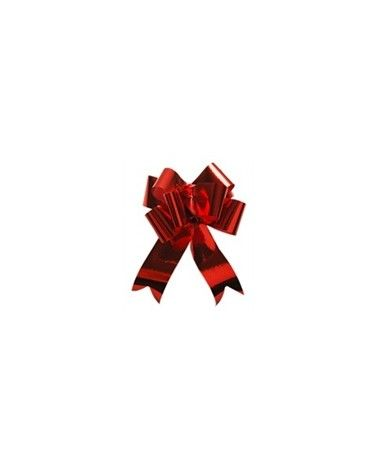 Laço de Puxar Metalizado Vermelho 31mm (c/100) - Vermelho - 31mm - LÇ1145