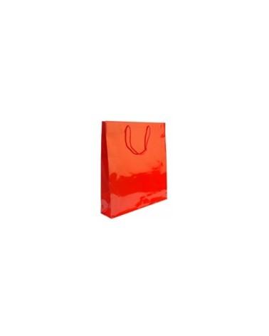 Saco Asa Cordão Vermelho Impressão Interior - Vermelho - 44+10x48cm - SC0086