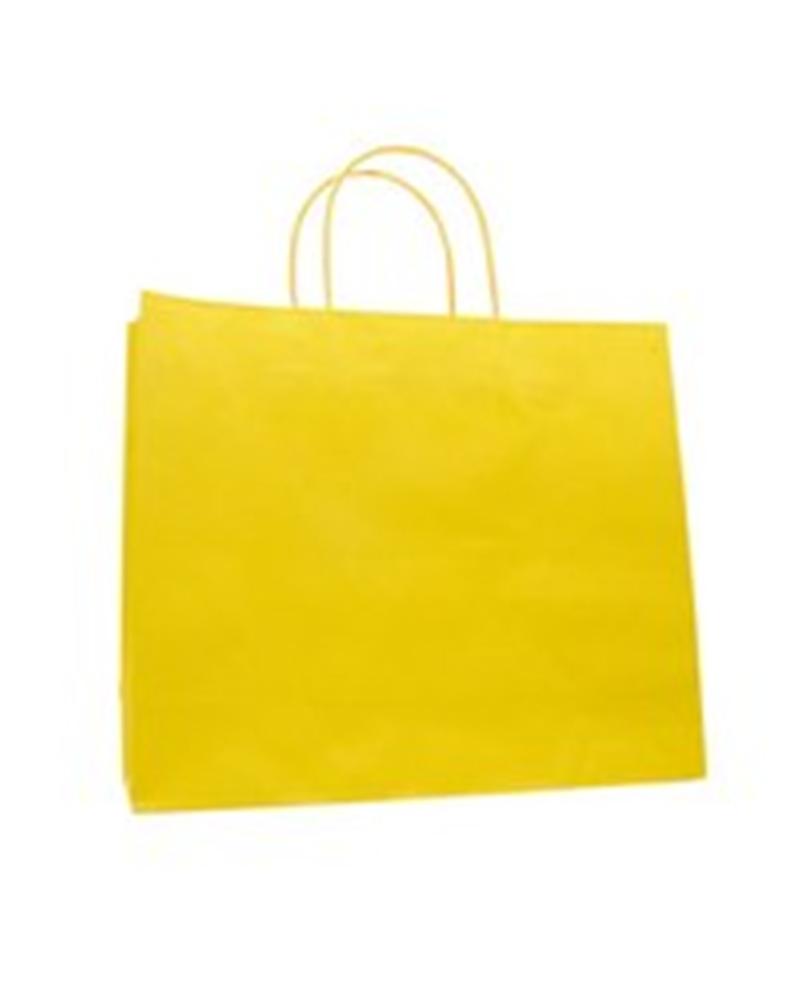 Saco Asa Retorcida Revestida Amarelo - Amarelo - 36+12x31+6 - PR2023
