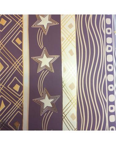 Papel Reflex Castanho/Dourado Estrela Natal - Castanho/Dourado - 70x100cm - PP2256