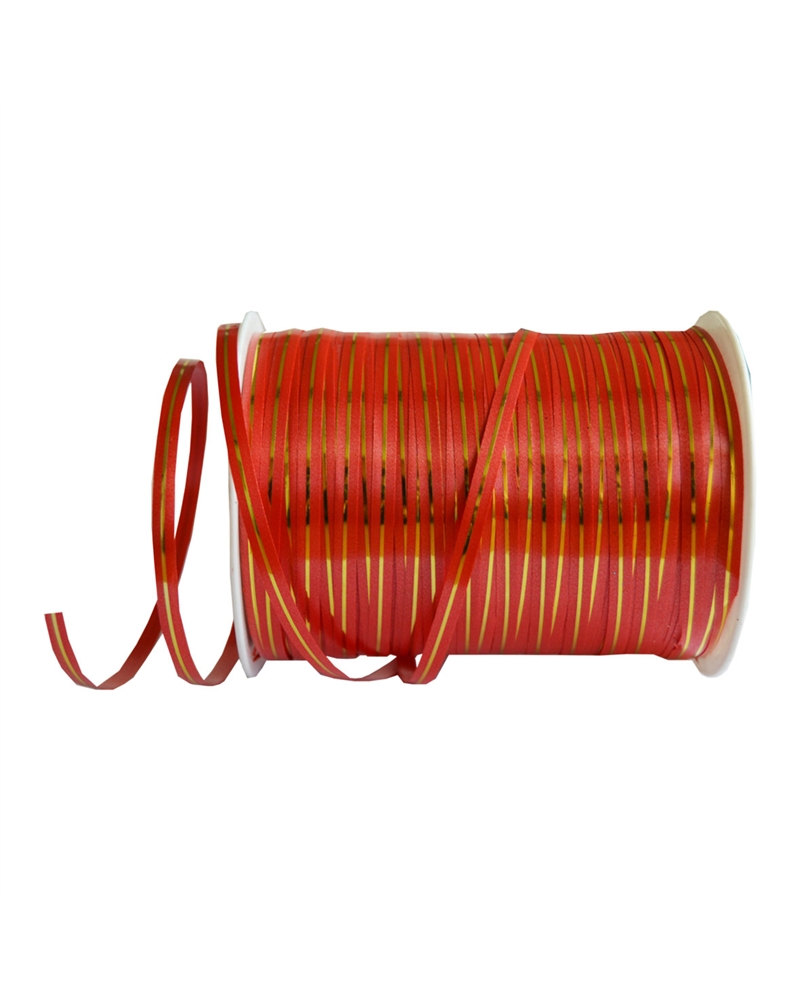 Rolo de Fita de Seda 1 Filete Vermelho 5mm - Vermelho - 5mm - FT0177