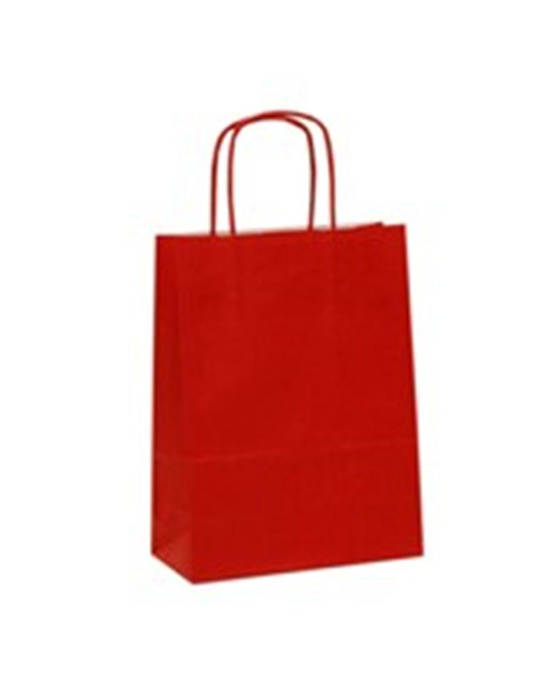 Saco Asa Retorcida Branco Liso Fundo Vermelho - Vermelho - 18+08x21 - SC0681