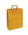 Saco Asa Plana Kraft Verjurado Fundo Amarelo - Amarelo - 32+16X44 - SC1333