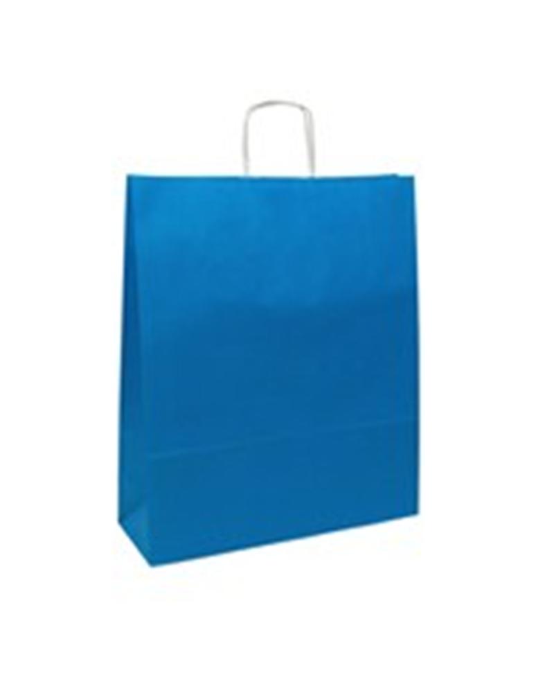 Saco Asa Retorcida Branco Liso Fundo Azul Claro - Azul Claro - 42+16x49 - SC0686