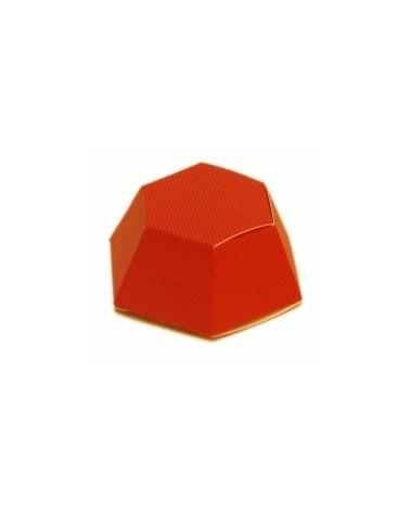 Caixa Bordeaux Esaedro - Vermelho - 70X30mm - CX0186