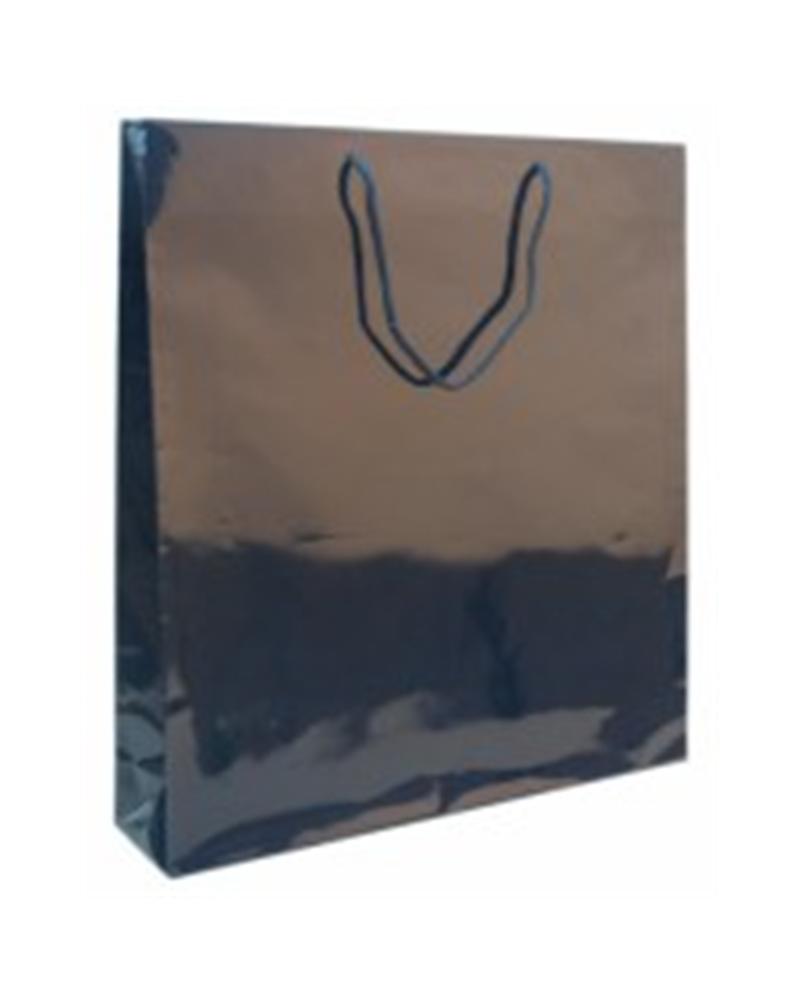 Saco Asa Cordão Azul Impressão Interior - Azul - 44+10X48cm - SC0081