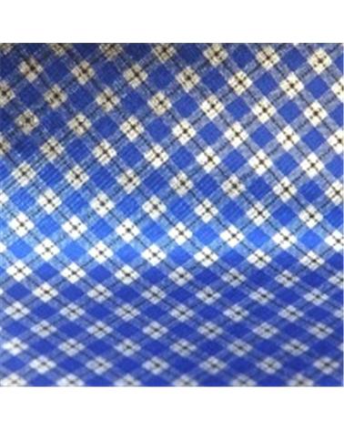 Papel Polipropileno Wrap Quadrados Azul/Prateado - Azul/Prateado - 70x100cm - PP0428