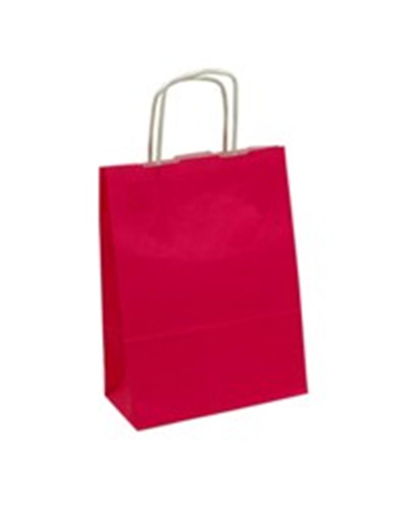 Saco Asa Retorcida Branco Liso Fundo Vermelho - Vermelho - 42+16x49 - SC0707