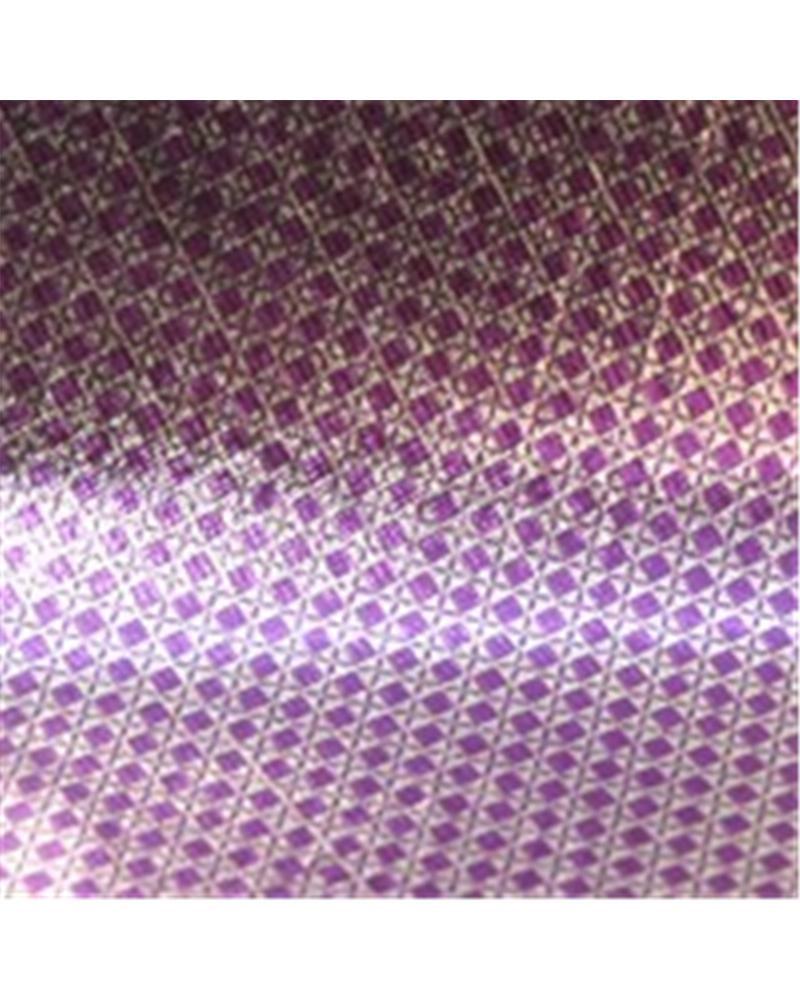 Papel Wrap Prateado c/ Losangulos Bordeaux - Prateado - 70x100cm - PP0443