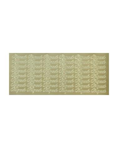 """Etiquetas Troqueladas """"Obrigado"""" Ouro (min.10) - Dourado - Vários - ET0393"""