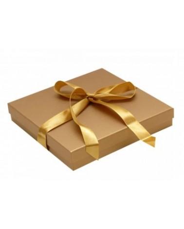 Caixa Linha Gold p/ Colar c/Fita - Dourado - 19.4x19.5x3.6cm - EO0392