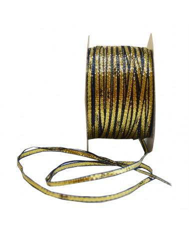 Fita de Puxar Dourado/Azul 3mmx20y - Dourado/Azul - 3mmx20mts - FT2087