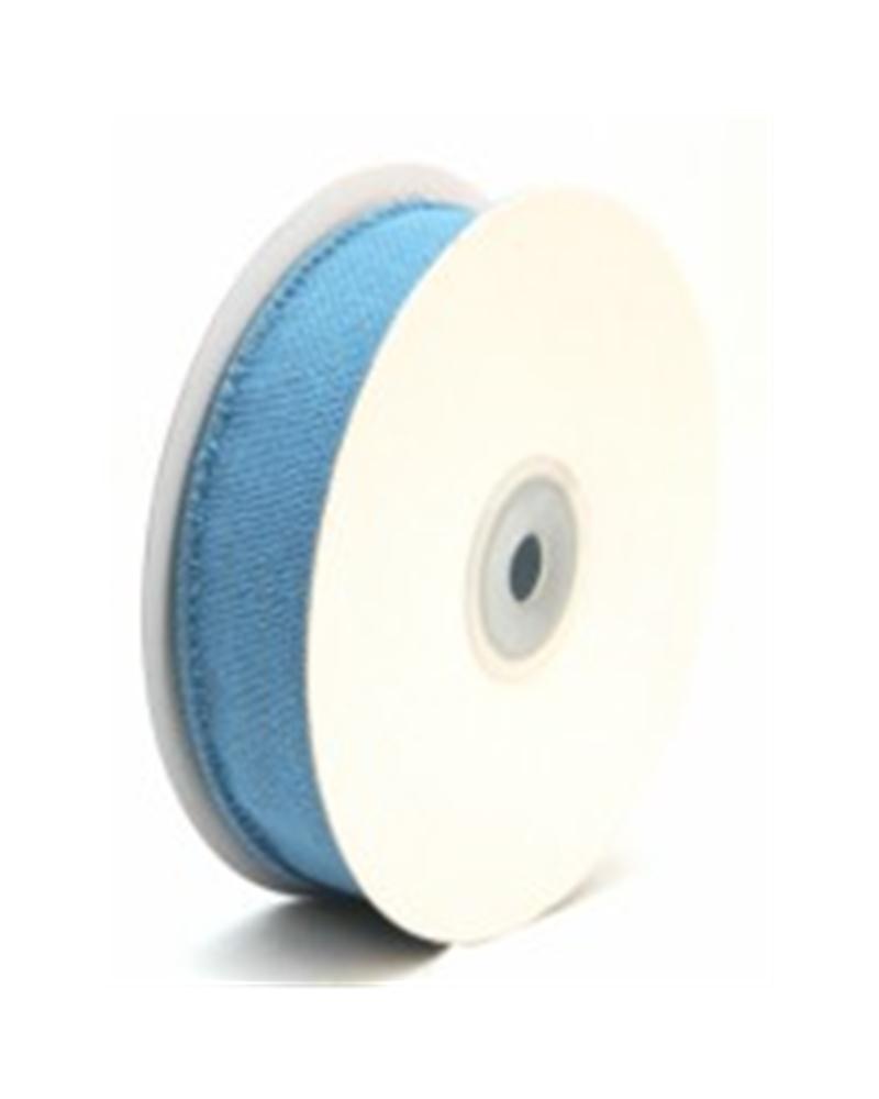 Fita de Algodão Armada Azul Claro 25mm - Azul - 25mmx10mts - FT2106