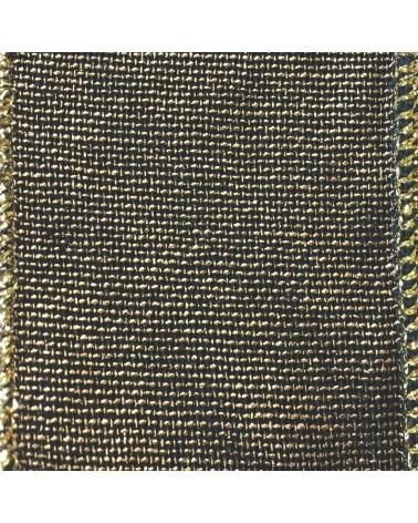 Fita de Algodão Armada Verde/Dourada 63mm - Verde - 63mmx10mts - FT2153