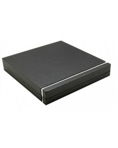 Caixa Para Colar Preto e Bege - Preto/Bege - 19.4x19.5x3.6cm - EO0400