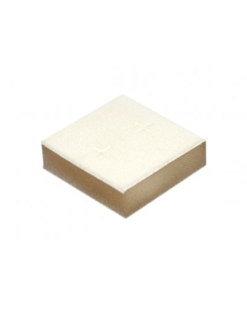 Esponja p/Brincos Branca c/Revest. Tecido Branco - Branco - 4.2x4.2cm - EO0402