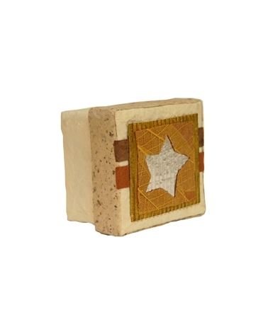 Caixa Artesanal Pequena C/ Motivos - Branco - 6.5+5+6.5cm - CX1630