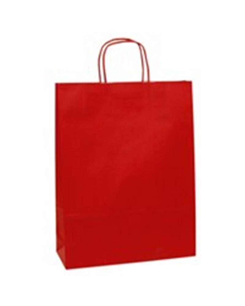 Saco Asa Retorcida Branco Liso Fundo Vermelho - Vermelho - 32+11x40 - SC0750