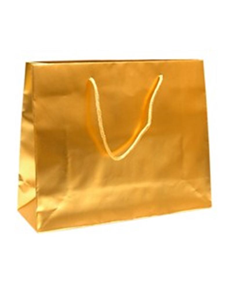 Saco Asa Cordão com Dobra Dourado Mate - Dourado - 38+13x31+6cm - SC0891