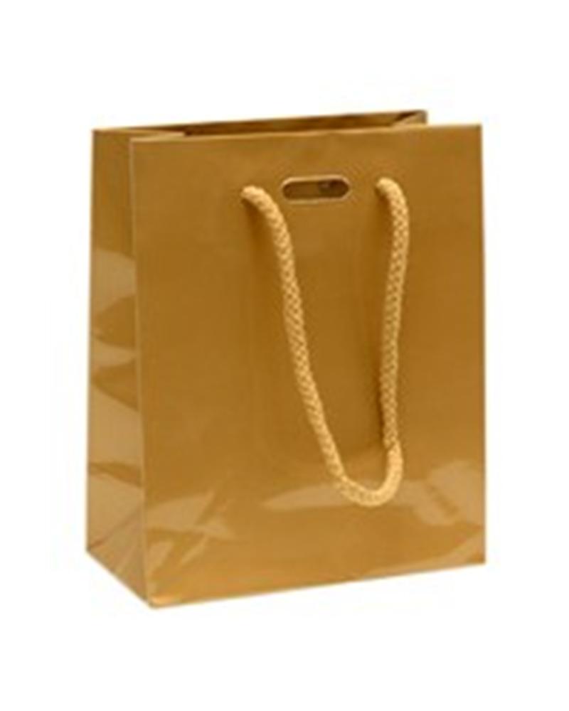 Saco Asa Cordão Dourado com Corte para Fita - Dourado - 14+07x17 - SC0894