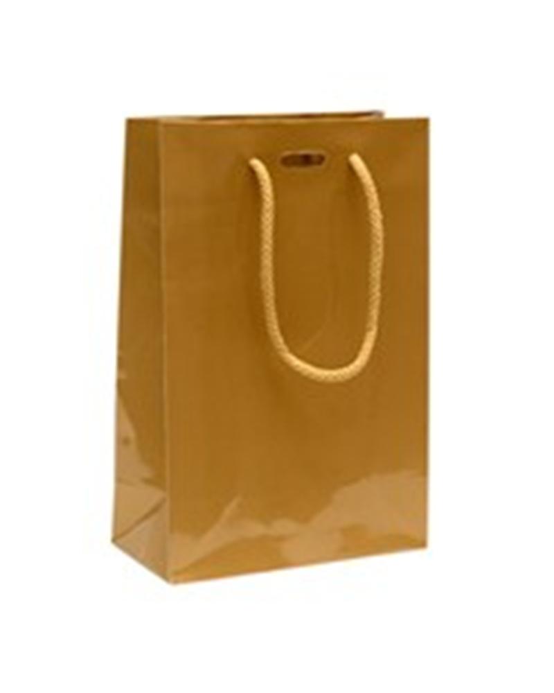 Saco Asa Cordão Dourado com Corte para Fita - Dourado - 16+08x24 - SC0895