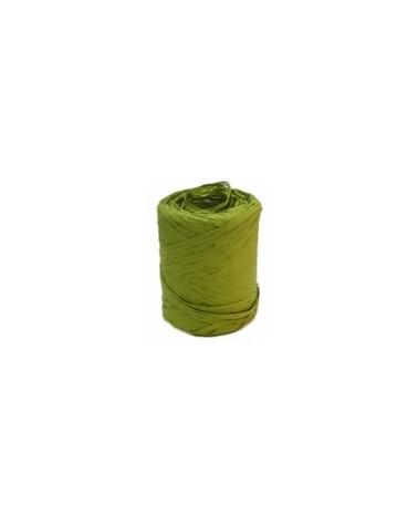 Rolo Fita Rafia Verde Tropa - Verde Escuro - 15mmx200mts - FT3306