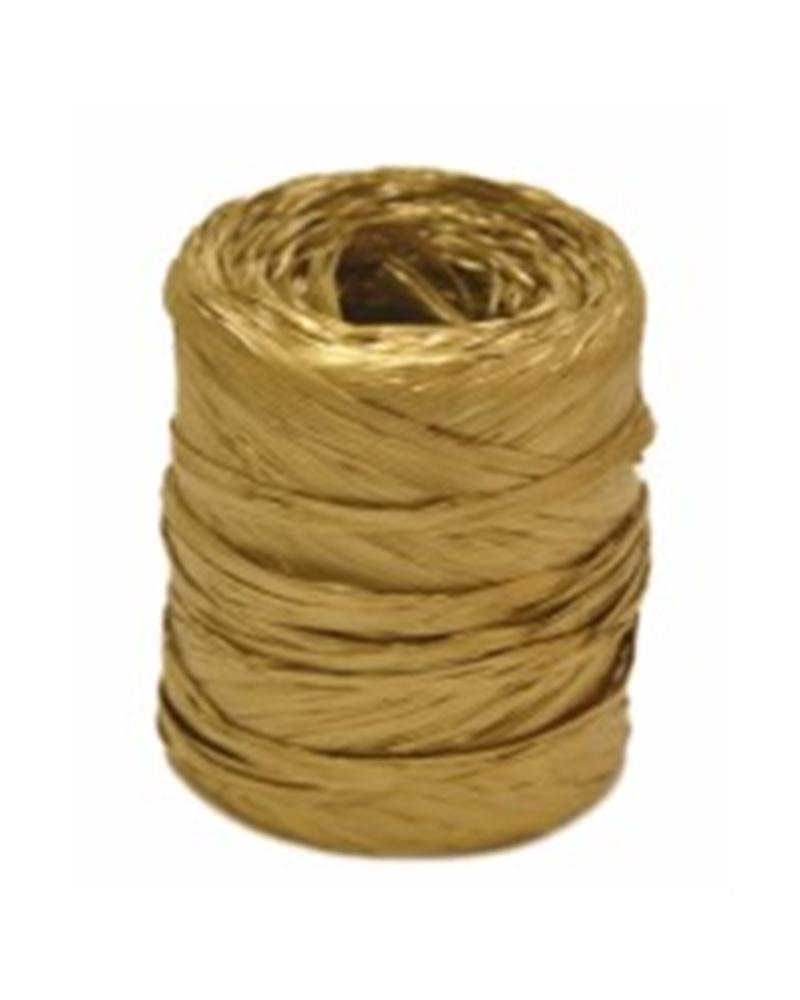 Rolo Fita Rafia Dourado - Dourado - 15mmx200mts - FT3309