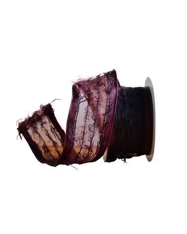 Fita Organza Bordeaux Escuro 40mm - Bordeaux - 40mmx10mts - FT3484