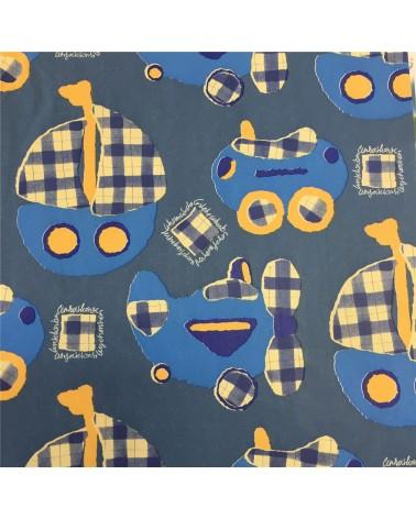 Papel kraft Branco Kids Azul - Azul - 70x100cm - PP0994